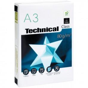 Ramette de 500 feuilles de papier blanc 80g de format A3 TECHNICAL