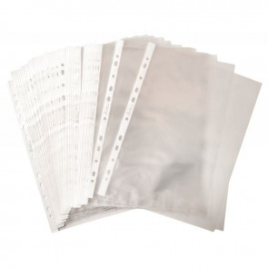 Sachet de 50 pochettes perforées en polypropylène 5-100ème aspect lisse format A4