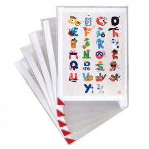 Sachet de 5 poches KANG adhésives et repositionnables en PVC, pour format A4