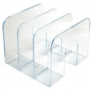Porte catalogues 3 compartiments transparents