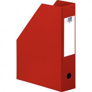 Boite de classement en PVC à pan coupé dos 7 cm rouge