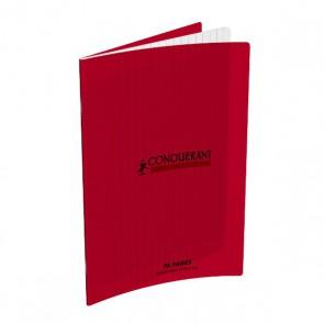 Cahiers 17x22 96p. Couverture en polypro rouge de 4/10° très résistante aux manipulations ; grands carreaux Seyès Réf. Hamelin 599263