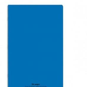 Cahier piqûre 21x29,7cm 96 pages grands carreaux 90g. Couverture polypro bleu, Ref. Hamelin 599298