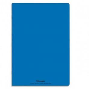 Cahier piqûre 24x32 96 pages grands carreaux 90g. Couverture polypro. BLEUE, Réf. 599344