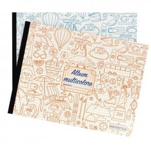 Album à dessin 48 pages format 24x32 cm à l'italienne multicolore papier 80g