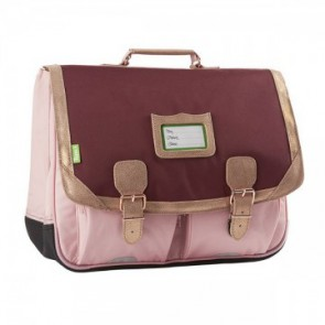 Cartable Tann's CLASSIC 41 LES FANTAISIES PALERMO BORDEAUX/ROSE