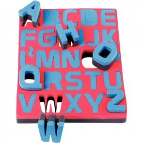 Lot de 26 maxi pochoirs éponges 2 densités. les 26 lettres de l'alphabet en majuscule
