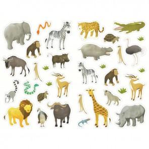 Pochette de 408 gommettes les animaux sauvages, adhésives repositionnables
