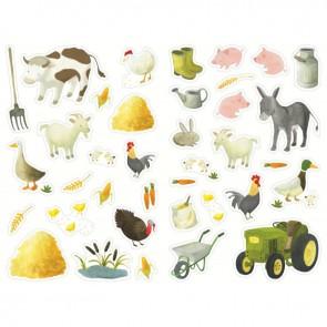 Pochette de 444 gommettes les animaux de la ferme, adhésives repositionnables