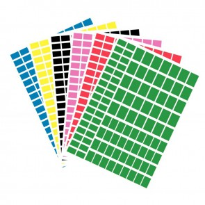 Pochette de 630 gommettes adhésives rectangulaires couleurs assorties