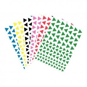 Pochette de 624 gommettes adhésives triangulaires couleurs assorties