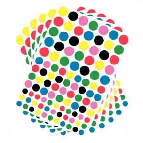 Pochette de 2080 gommettes adhésives rondes 6 couleurs assorties