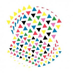 Pochette de 2080 gommettes adhésives triangulaires 6 couleurs assorties