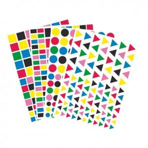 Maxi pochette de 4170 gommettes géométriques adhésives couleurs vives