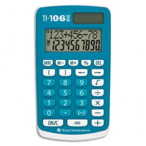 TEXAS INSTRUMENTS Calculatrice 4 opérations pour classes primaires TEXAS INST. TI-106