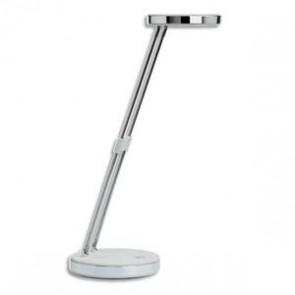 Lampe Puck LED, blanc, double bras télescopique en acier, tête inclinable 180°, commutateur socle (Default)