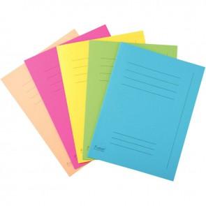 Paquet de 50 chemises imprimées 220g, format 24x32 cm, couleurs assorties