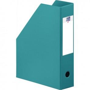 Boite de classement en PVC à pan coupé dos 7 cm bleu turquoise