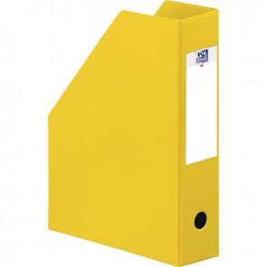 Boite de classement en PVC à pan coupé dos 7 cm jaune
