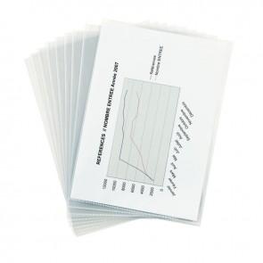 Sac de 10 pochettes coin polypropylène 14/100ème incolore