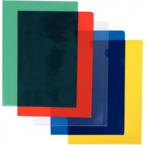 Boîte de 100 pochettes coin polypropylène 14/100ème assortis