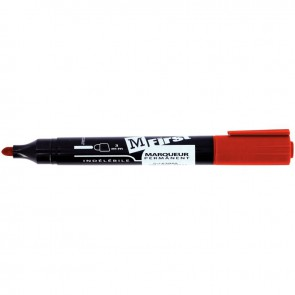 Marqueur permanent indélébile universel First pointe ogive 1 à 3 mm rouge