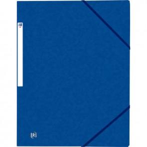 Chemise 3 rabats à élastiques TOP FILE+ en carte lustrée 4-10e 390g, bleu