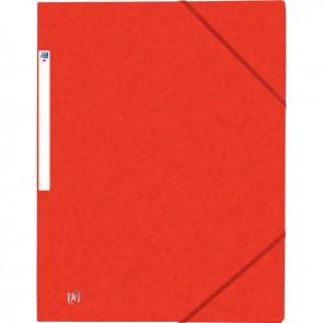 Chemise 3 rabats à élastiques TOP FILE+ en carte lustrée 4/10e 390g, rouge