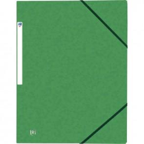 Chemise 3 rabats à élastiques TOP FILE+ en carte lustrée 4/10e 390g, vert