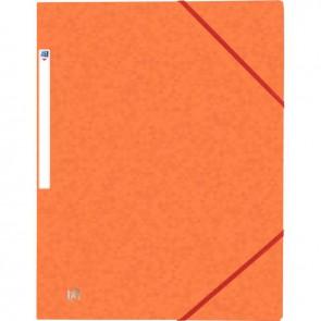 Chemise 3 rabats à élastiques TOP FILE+ en carte lustrée 4/10e 390g, orange