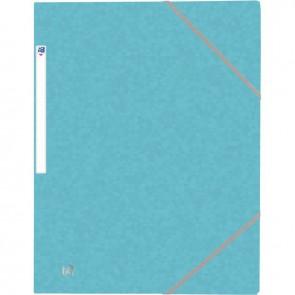 Chemise 3 rabats à élastiques TOP FILE+ en carte lustrée 4/10e 390g, bleu clair