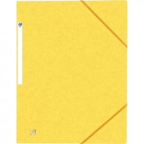 Chemise 3 rabats à élastiques TOP FILE+ en carte lustrée 4/10e 390g, jaune