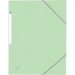 Chemise 3 rabats à élastiques TOP FILE+ en carte lustrée 4/10e 390g, vert pastel