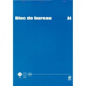Bloc de bureau 100 feuilles 60g format A4 quadrillé 5x5