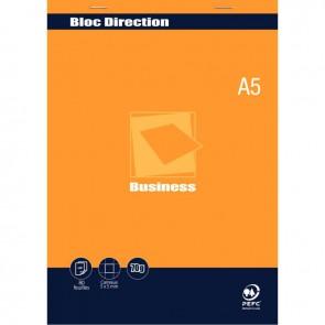 Bloc direction 80 feuilles 70g format A5 quadrillé 5x5