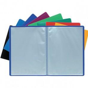 Porte-vues protège document 40 vues en 20 pochettes A4 grainées, couverture BLEUE opaque souple dim. ext. 24 x 32.  Réf. Exacompta 8520E