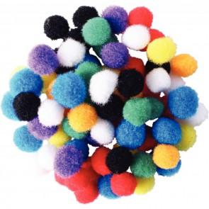 Sachet d'environ 200 mini pompons couleurs assorties