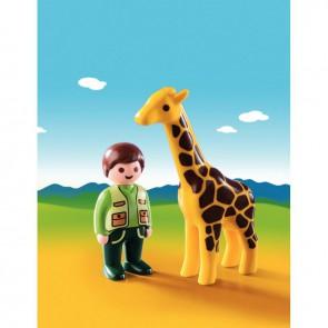 Girafe + soigneur PLAYMOBIL 1-2-3
