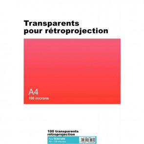 Boîte de 100 transparents pour rétroprojection écriture A4 100µ