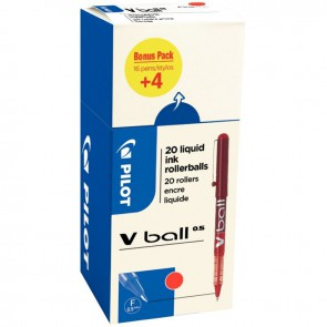 Ecopack 20 rollers VBall 5 rouge dont 4 gratuit