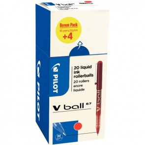 Ecopack 20 rollers VBall 7 rouge dont 4 gratuit