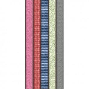 Boîte de 10 rouleaux de papier cadeau motifs fantaisies assortis 2 x 0,70 m