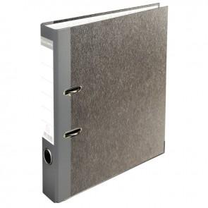 Classeur à levier en carton gris, pour format A4, dos 5 cm