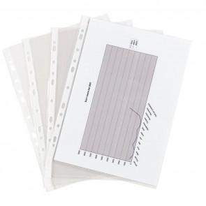 Sachet de 100 pochettes perforées en polypropylène aspect lisse Format 21x29,7 cm épaisseur 7,5/100ème