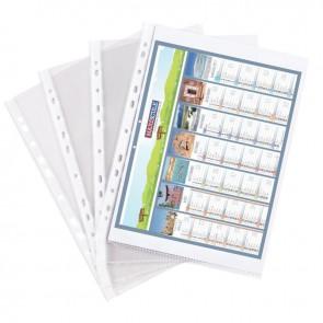 Boîte de 100 pochettes perforées en polypropylène aspect lisse format 21x29,7 cm épaisseur 9/100 ème