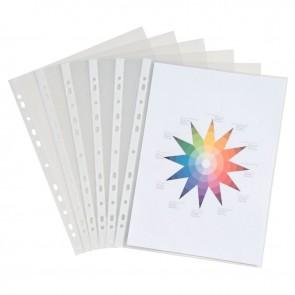 Sachet de 50 pochettes perforées en polypropylène format 21x29,7 cm épaisseur 9/100ème