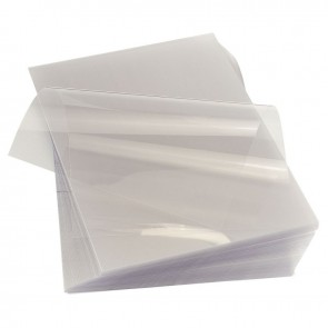 Paquet de 100 couvertures Cristal incolores, épaisseur 15 / 100e Format : 21x29,7 cm