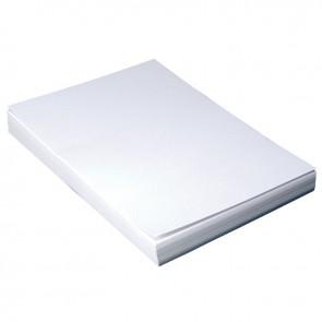 Paquet de 100 couvertures grain cuir, format 21x29,7 cm  blanc
