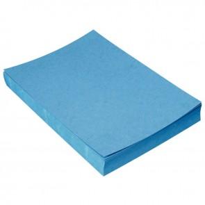 Paquet de 100 couvertures grain cuir, format 21x29,7 cm  bleu foncé