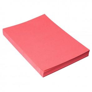 Paquet de 100 couvertures grain cuir, format 21x29,7 cm  rouge